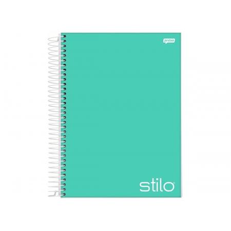 Caderno Espiral 10x1 Stilo Verde 200 Fls. Pct. C/ 4 Unidades - Jandaia - 6539377