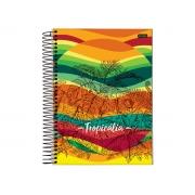 Caderno Espiral 10x1 Tropicalia 200 Fls. Pct. C/ 4 Unidades - Jandaia - 6361219