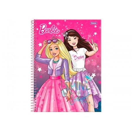 Caderno Espiral 1x1 Capa Dura Barbie Dreamtopia, 96 Fls. Pct. C/4 Unidades - Foroni