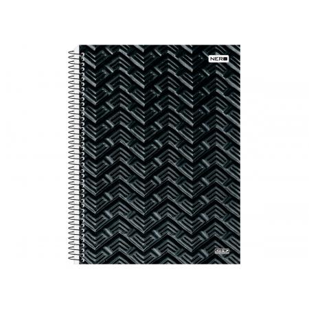 Caderno Espiral C.D. 15x1 Nero, 300 Fls. Pct. C/ 2 Un. - São Domingos - 3904