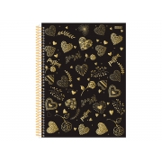 Caderno Espiral C.D. 15x1 Passion, 300 Fls. Pct. C/ 2 Un. - São Domingos - 3655