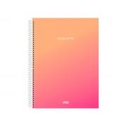Caderno Espiral C.D. 1x1 Colors Pink, 96 Fls. Pct. C/ 4 Un. - São Domingos - 3716