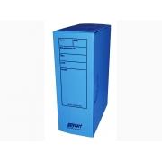Caixa Arquivo Comercial, Com Impressão e Trava, Pacote Com 10 Unidades, Polycart - Azul - 4007AZ