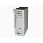 Caixa Arquivo Comercial, Com Impressão e Trava, Pacote Com 10 Unidades, Polycart - Branco - 4007BR