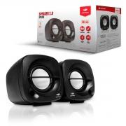 Caixa de Som C3Tech SP-303BK, Speaker 2.0, P2 3,5mm, Preto