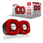 Caixa de Som C3Tech SP-303RD, 2.0, P2 3.5mm, Vermelho