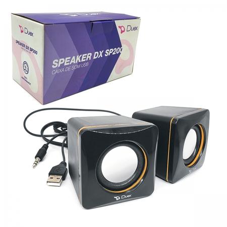 Caixa de Som Duex DX SP200, USB 2.0, P2 3.5mm