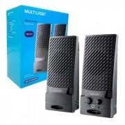 Caixa de Som Multilaser SP050, USB 2.0, P2 3,5mm, Preto