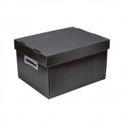 Caixa Organizadora M Polibras - Preta (fosca) - 222/04