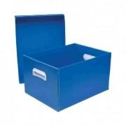 Caixa Organizadora Media C/pegador Colors Polibras - Azul - 1875/63