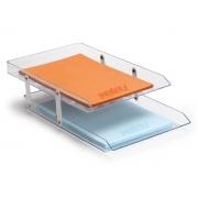 Caixa para Correspondência Dupla Móvel, Waleu - Cristal - 10050009