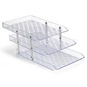 Caixa para Correspondência Tripla Móvel, Waleu - Cristal - 10050018
