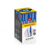 Caneta Esferográfica Economic, Caixa C/ 50 Unidades, Compactor - Azul