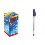 Caneta Esferográfica Slide 1.0mm Azul Caixa Display 50 unidades Tris - 672489