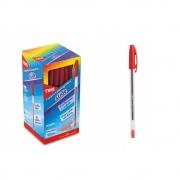 Caneta Esferográfica Slide 1.0mm Vermelho Caixa Display 50 Unidades Tris - 672502