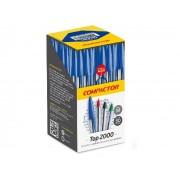 Caneta Esferográfica Top 2000, Caixa C/ 50 Unidades, Compactor - Azul
