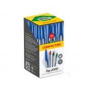 Caneta Esferográfica Top 2000, Caixa C/ 50 Unidades, Compactor - Verde