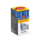 Caneta Esferográfica Top 2000, Caixa C/ 50 Unidades, Compactor - Vermelha