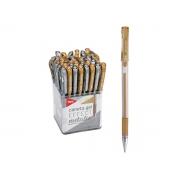 Caneta Gel Effect Metalic Prata / Ouro, Pote c/ 50 Unidades - Tris - 687124