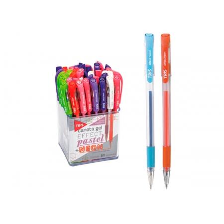 Caneta Gel Effect Pastel + Neon, Pote C/ 50 Unidades - Tris - 661681