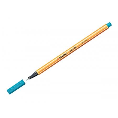 Caneta Hidrográfica Point 88, Caixa Com 10 Unidades, Stabilo - Azul Turquesa - 1188900