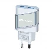 Carregador C3Tech C3Plus UC-20SWHX AC/USB Universal 2A