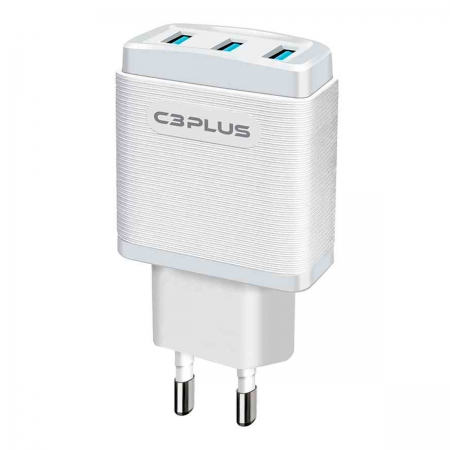Carregador C3Tech C3Plus UC-30WHX AC/USB Universal 3.1A