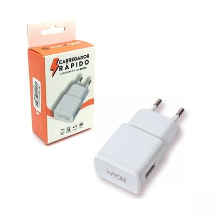 Carregador Hayom CR1201, USB 2.1A
