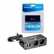 Carregador Veicular Fortrek MPS-201, 12/24V, 2A, 2 USB, Preto ou Prata