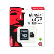 Cartao de Memoria Micro SD 16GB Kingston C/Adaptador Classe 10 SDCS/16GB