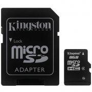 Cartão de Memória Micro SD Kingston 8GB com Adaptador