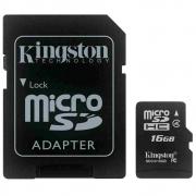 Cartão de Memória Micro SD KINGSTON SDC4/16GB 16GB com Adaptador