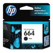 Cartucho de Tinta HP 664, Preto, Original 2ml - F6V29AB