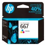 Cartucho de Tinta HP 667, Colorido - 3YM78AB