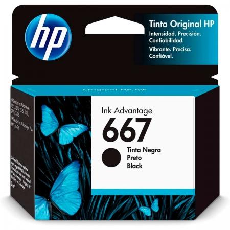 Cartucho de Tinta HP 667, Preto - 3YM79AB
