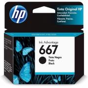 Cartucho de Tinta HP 667, Preto - 3YM79AL