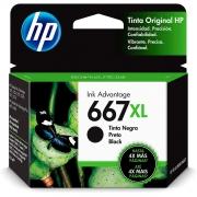 Cartucho de Tinta HP 667XL Preto - 3YM81AL