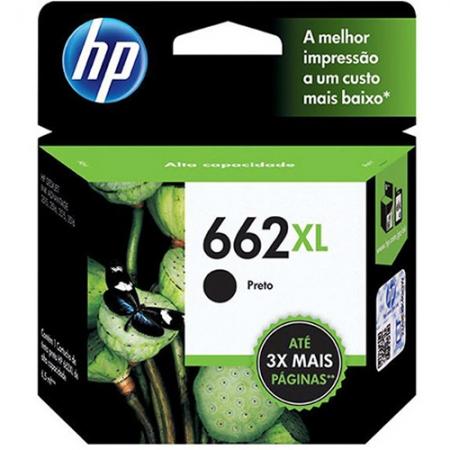 Cartucho HP Tinta 662XL Preto CZ105AB