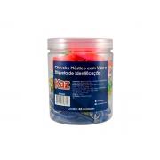 Chaveiro Plástico Com Visor e Etiqueta Cores Sortidas Contém 48 Unidades Kaz - 728758