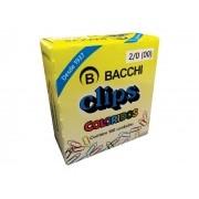 Clips Colorido N° 2 / 0 (00), Caixa Com 100 Unidades, Pacote C/10, Bacchi