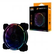 Cooler FAN OEX F40, 120mm, LED RGB - 1200RPM, Iluminação Rainbow
