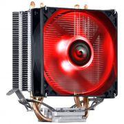 Cooler para Processador Intel/AMD Pcyes KZ2 LED Vermelho 92mm TDP 100W ACZK292LDV
