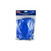 Cordão para Crachá Com Jacaré Azul Contém 50 Unidades Kaz - 760918