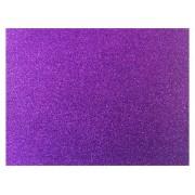 E.V.A Glitter 40 x 60 cm, Pacote Com 05 Folhas, Make+ - Violeta