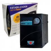 Estabilizador 2000VA Ragtech Sense Laser SE 2000SN M2 Black Monovolt 220/220V 6 Tomadas - 20SEL3488