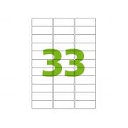 Etiqueta Inkjet e Laser A4 CA4356, 25,4 x 63,5 x 3 mm, 100 Folhas, Colacril - AELCCE4041