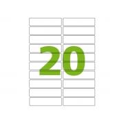 Etiqueta Inkjet e Laser Carta CC181, 25,4 x 101,6 x 2 mm, 100 Folhas, Colacril - AELCCE4007