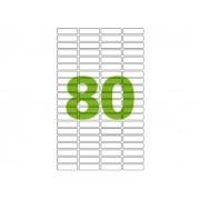 Etiqueta Inkjet e Laser Carta CC187, 12,7 x 44,45 x 4 mm, 100 Folhas, Colacril - AELCCE4003