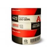 Fita Crepe para Uso Geral 423, 24mm x 50m, Pacote C/ 5 Unidades, Adere