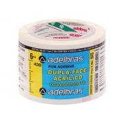 Fita Dupla Face Transparente Acrílico, 12 mm x 30 m, Contém 06 Rolos, Adelbras - 430